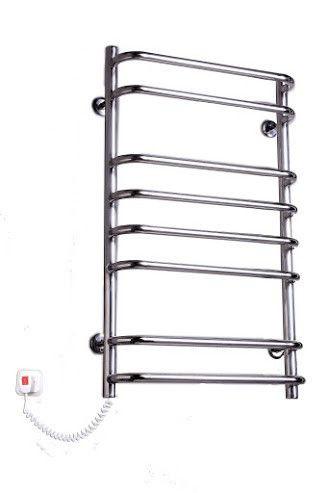 Для ванной комнаты электрический полотенцесушитель Elna, Стандарт-8 из нержавеющей стали