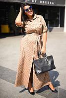 Платье женское длинное коттоновое LV P3565