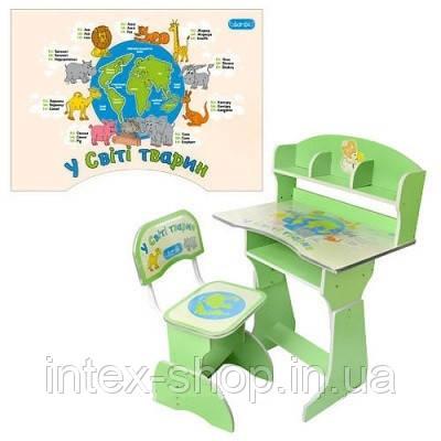 Детская парта со стульчиком трансформер Bambi HB 2882-03(стол-парта растишка) КИЕВ, фото 2