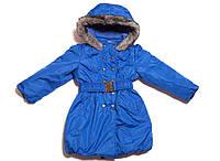 Куртка-пальто детская удлиненная для девочек. Разные цвета