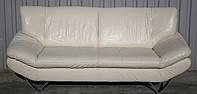 Белый диван 3 - ка из натуральной кожи.
