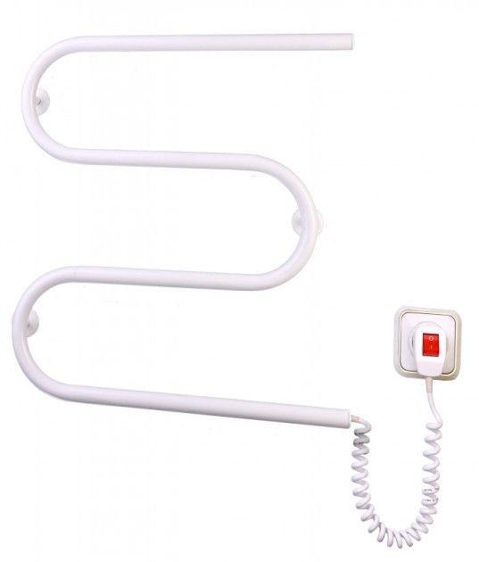 Полотенцесушитель Elna электрический, Змейка М (белая)
