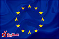 Флажок ЕС 13,5*25 см., плотный атлас