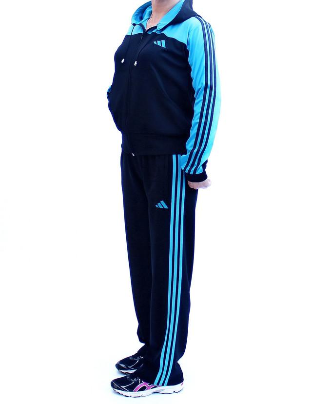 спортивный костюм с капюшоном - бирюзовый верх - фото teens.ua