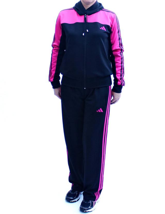 спортивный костюм с капюшоном - малиновый верх - фото teens.ua