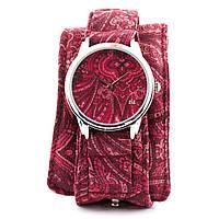 """Часы наручные """"Розовые узоры"""" тканевый ремешок"""
