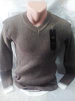 Мужской молодежный однотонный свитер