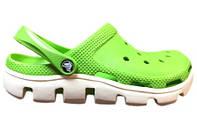 Женские Crocs Duet Sport Clog Green White