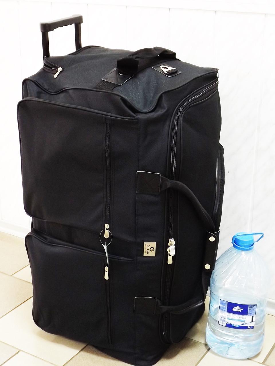 ceaae8cc4e39 Очень большая дорожная сумка на колесах Т-938 черная 130 литров ...
