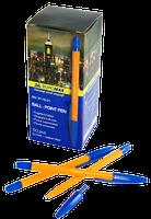 Ручка шариковая BUROMAX 8119-01 Оранж синяя