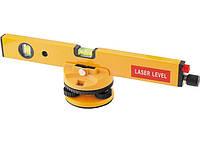 Уровень лазерный, 400 мм, 850 мм штатив, 3 глазка, (база, 2 линзы, очки) в пласт. боксе MTX (35027), фото 1