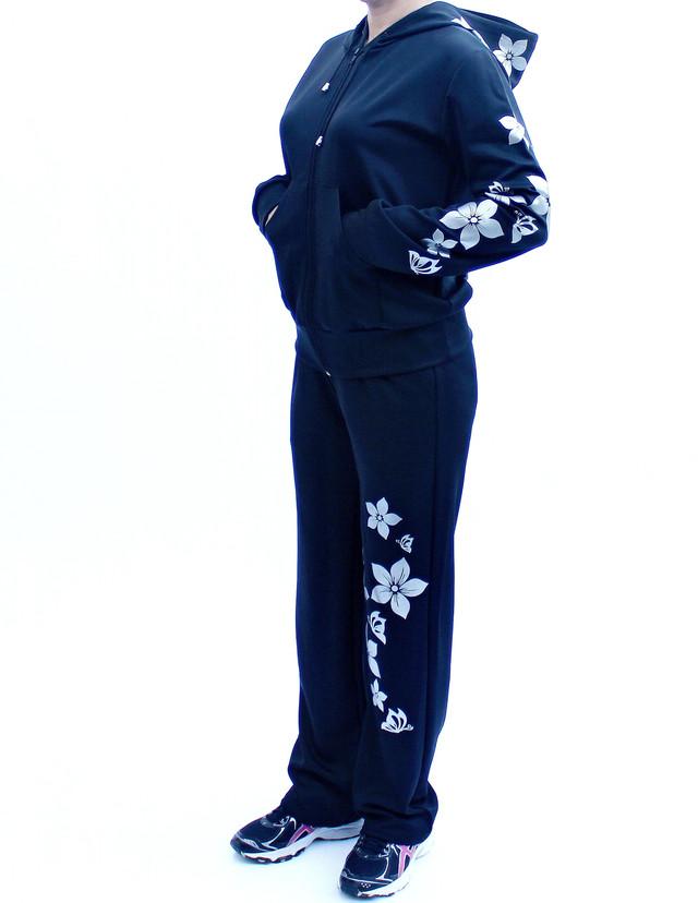 Женский спортивный костюм с узором Цветы анфас фото teens.ua