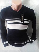 Молодежный мужской черный джемпер