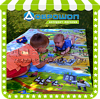 Детский игровой коврик для ползания «Happy Kinder» L 1500х1200x8 мм. , фото 1