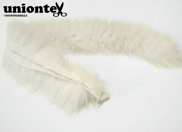 Опушка из песца (альбинос) 70 см. , фото 2