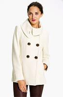 Короткое кашемировое пальто на двойной застежке с воротничком
