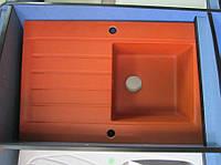 Мойка кухонная гранитная Deante Modern 1В1D (теракотовый), фото 1