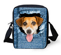 Оригинальная 3D сумка с рыжей собачкой.