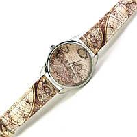 """Часы наручные арт """"Карта"""""""