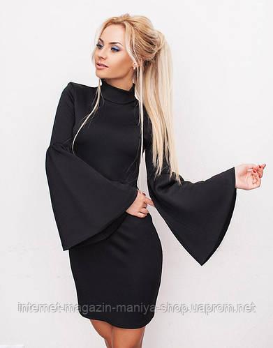 Платье женское с широкими рукавами