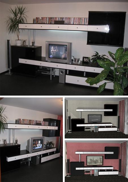 Меблі у вітальню з МДФ фарбованого від виробника