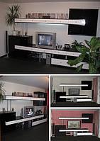 Мебель в гостинную из МДФ крашенного