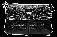 Женская сумка под кожу крокодила черного цвета KRQ-818650