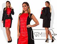 Женское платье с пиджаком больших размеров у-202338