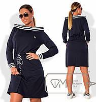 Женское платье на завязках Батал в ассортименте к-202339