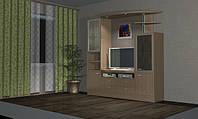 """Стенка в гостиную, мебель для гостиных комнат из """"AGT"""" профиля под заказ"""