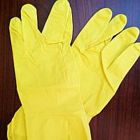 Перчатки хозяйственные  желтые  Work and Care