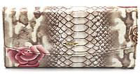 Классический кожаный женский кошелек рептилия H.VERDE art.2536-E20, фото 1
