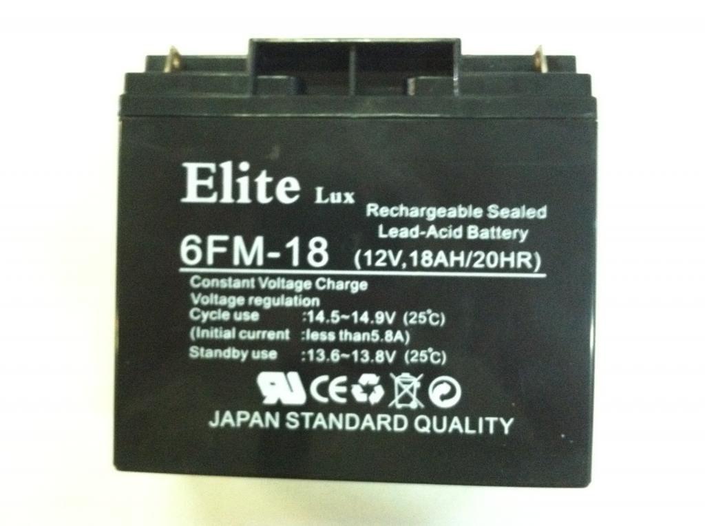 Аккумулятор Elite 6FM-18 12v 18А 18AH/20HR