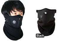 Зимняя теплая маска для лица, лыжная, сноуборда (черн)
