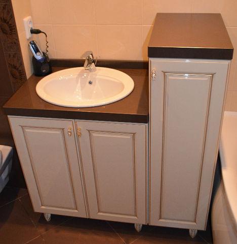 Мебель для ванной комнаты со столешницей из кварца