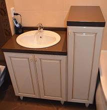 Меблі для ванної кімнати зі стільницею з кварцу під замовлення