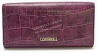 Классический женский кошелек фиолетового цвета под кожу рептилии COSSROLL art.E21-5242