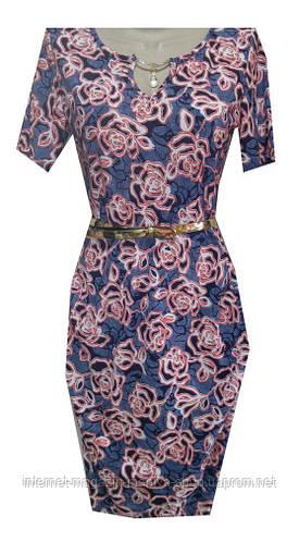 Платье женское с украшением розы