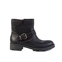 Ботинки женские кожаные Tuto 03-130 черн. нубук, фото 1