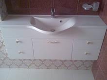 Меблі для ванної кімнати з фарбованого МДФ під замовлення