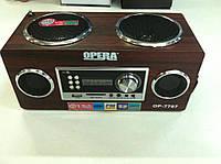 Портативная MP3 колонка ОРERA USB Радио 220 в