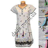 Женская котоновая ночная рубашка TL16 оптом со склада на 7км.
