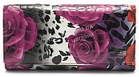 Классический кожаный женский кошелек рептилия H.VERDE art.2030-E29, фото 1