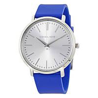 Часы Michael Kors Jaryn Silver Dial and Blue Silicone Strap MK2535