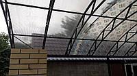 Навес с поликарбонат бронза Polygal 8мм, фото 1