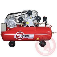 ✅ PT-0036 Компрессор 100л 4 кВт Intertol 600 л/мин 3 цилиндра