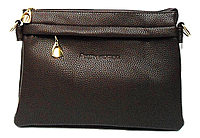 Сумка-клатч женская коричневая со змейкой