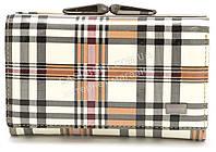 Компактный женский кожаный кошелек в клетку лак BODFON art. 2103-B89, фото 1