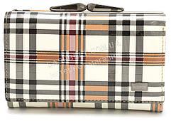 Компактный женский кожаный кошелек в клетку лак BODFON art. 2103-B89