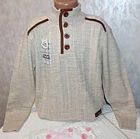 Качественный свитер на мальчика с  овечьей шерстью 10-11 лет
